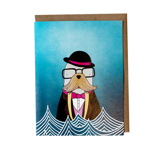 Magic Walrus Greeting Card
