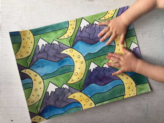 Outside-In: Nature Inspired Art Activity Pack for kids - ALL-IN-ONE BOX