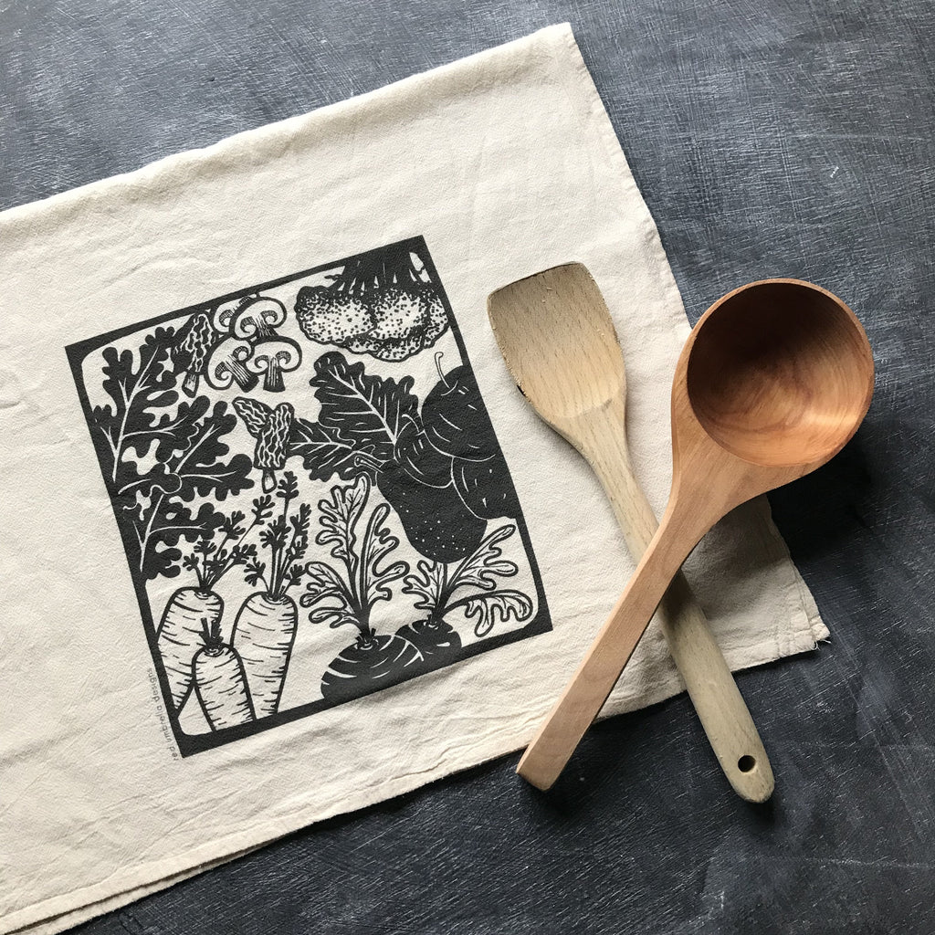 Kitchen Veggie Tea Towel