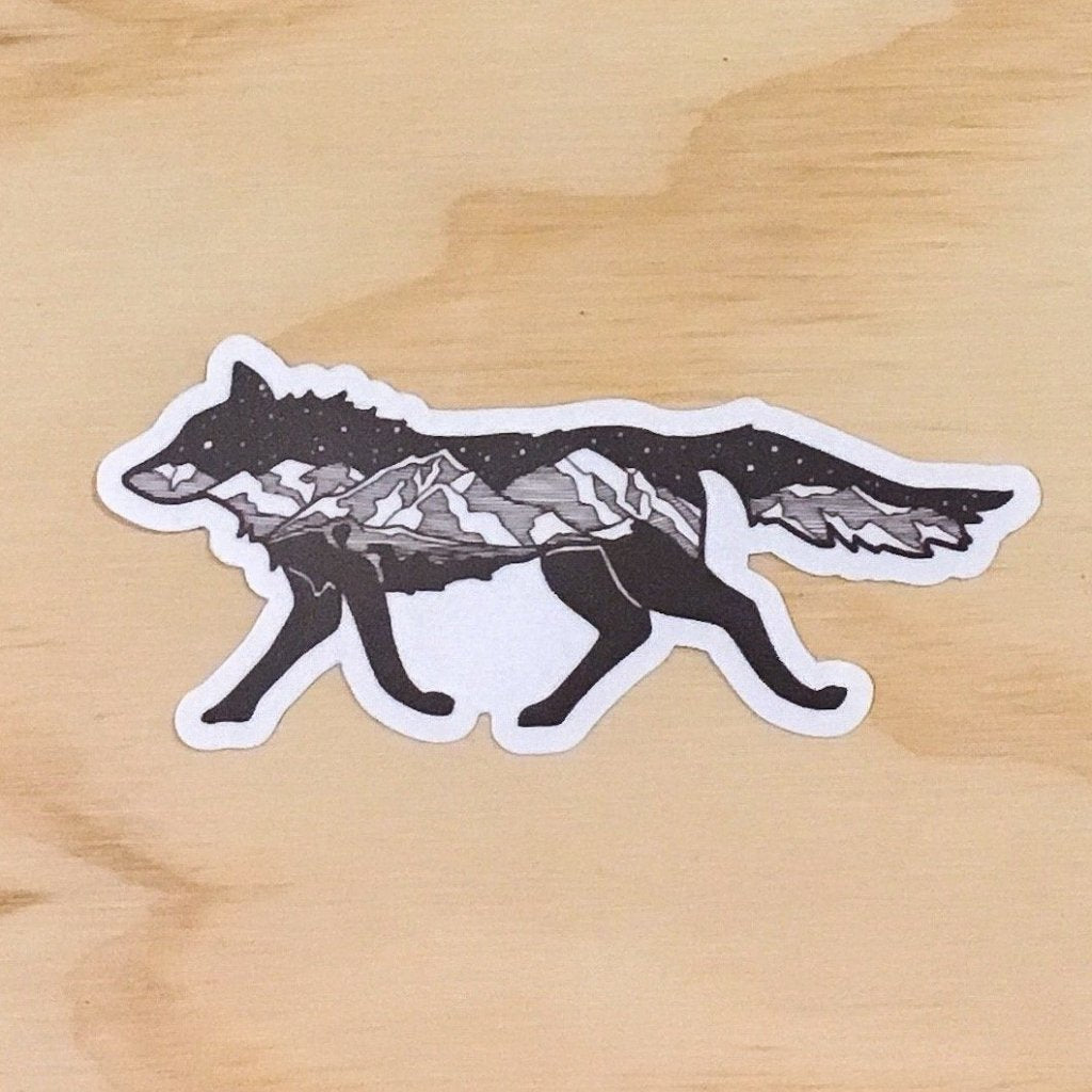 Mountain Wolf Sticker