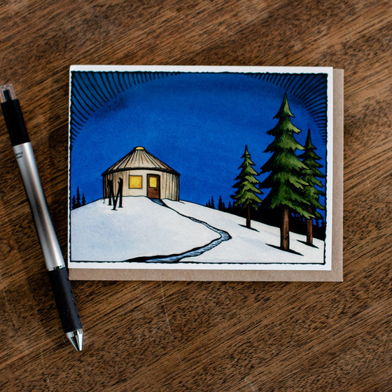 Hanson Yurt Greeting Card
