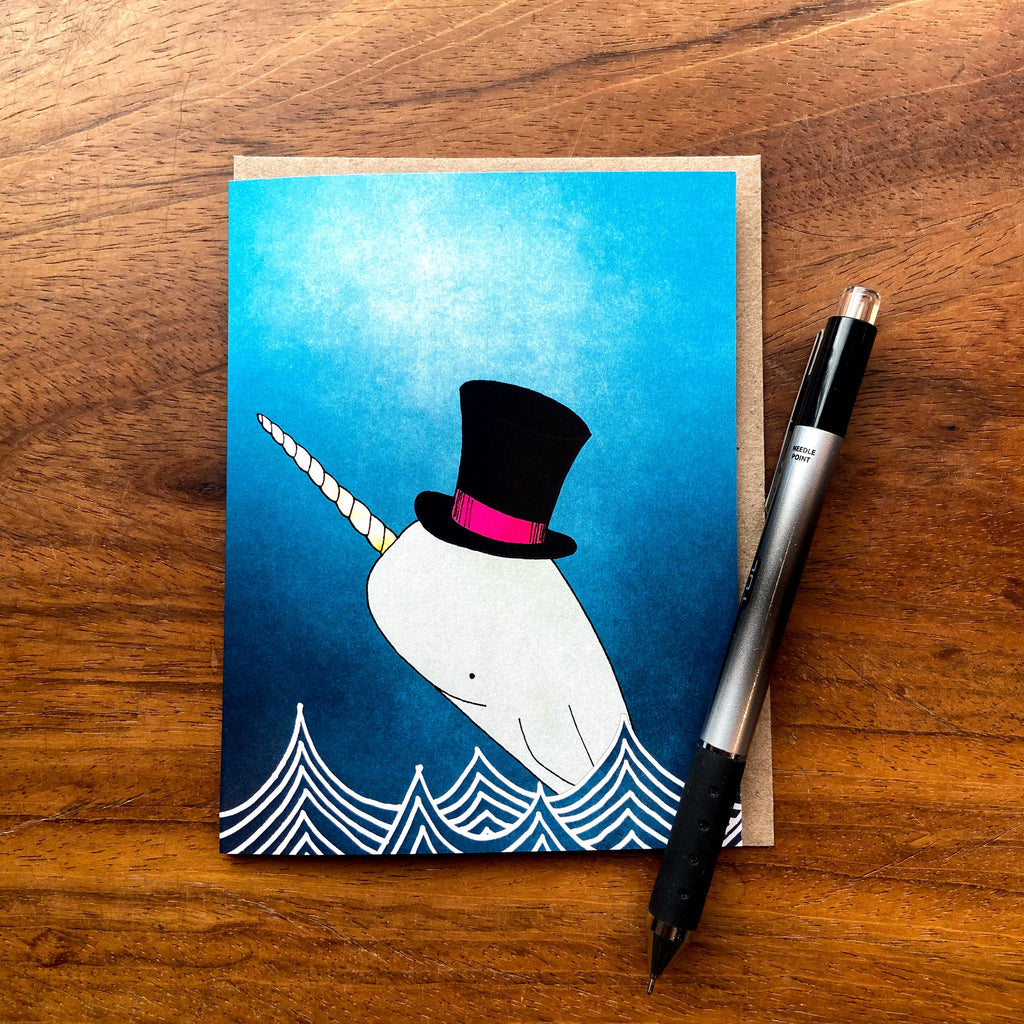 Magic Narwhal Greeting Card