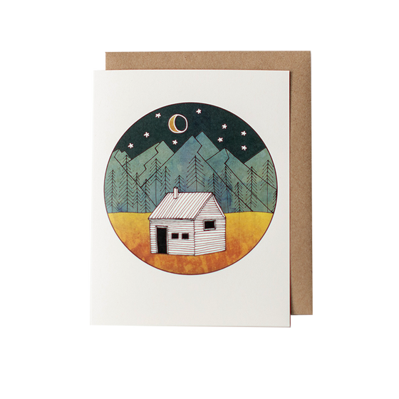 Little Cabin Greeting Card