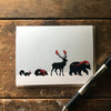 Snow Animals Greeting Card