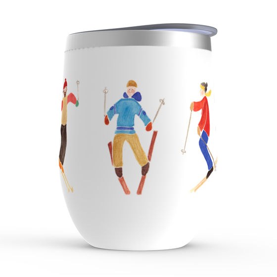 Ski Day Stemless Wine Tumblers