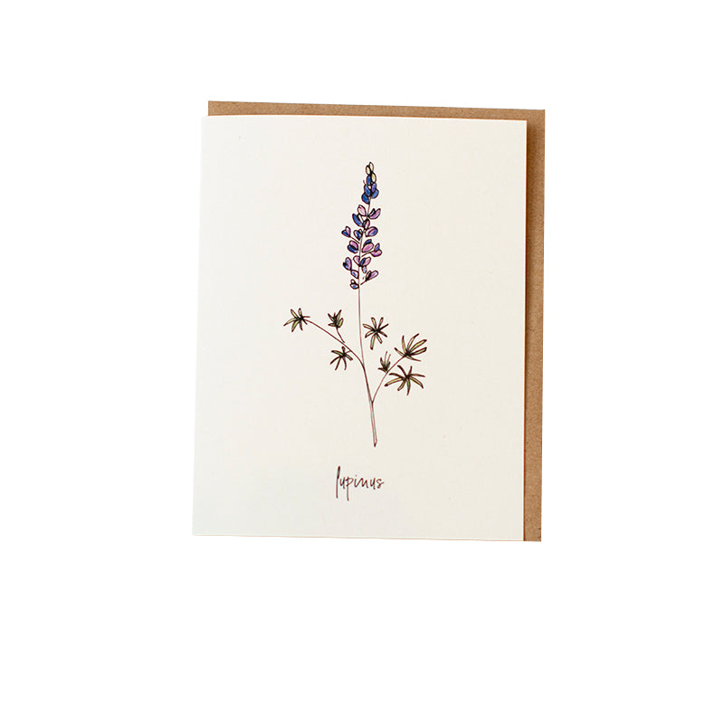 Peplow Lupine Greeting Card