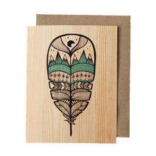 Wood Feather Greeting Card