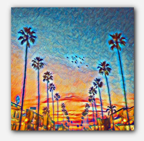 Sunset San Diego Painting