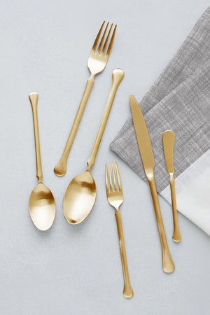 Bay Flatware, Brushed 24K Gold
