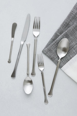 Bay Flatware, Brushed Silver