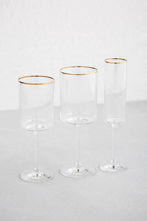 Modern Glassware for Events in Los Angeles, CA.