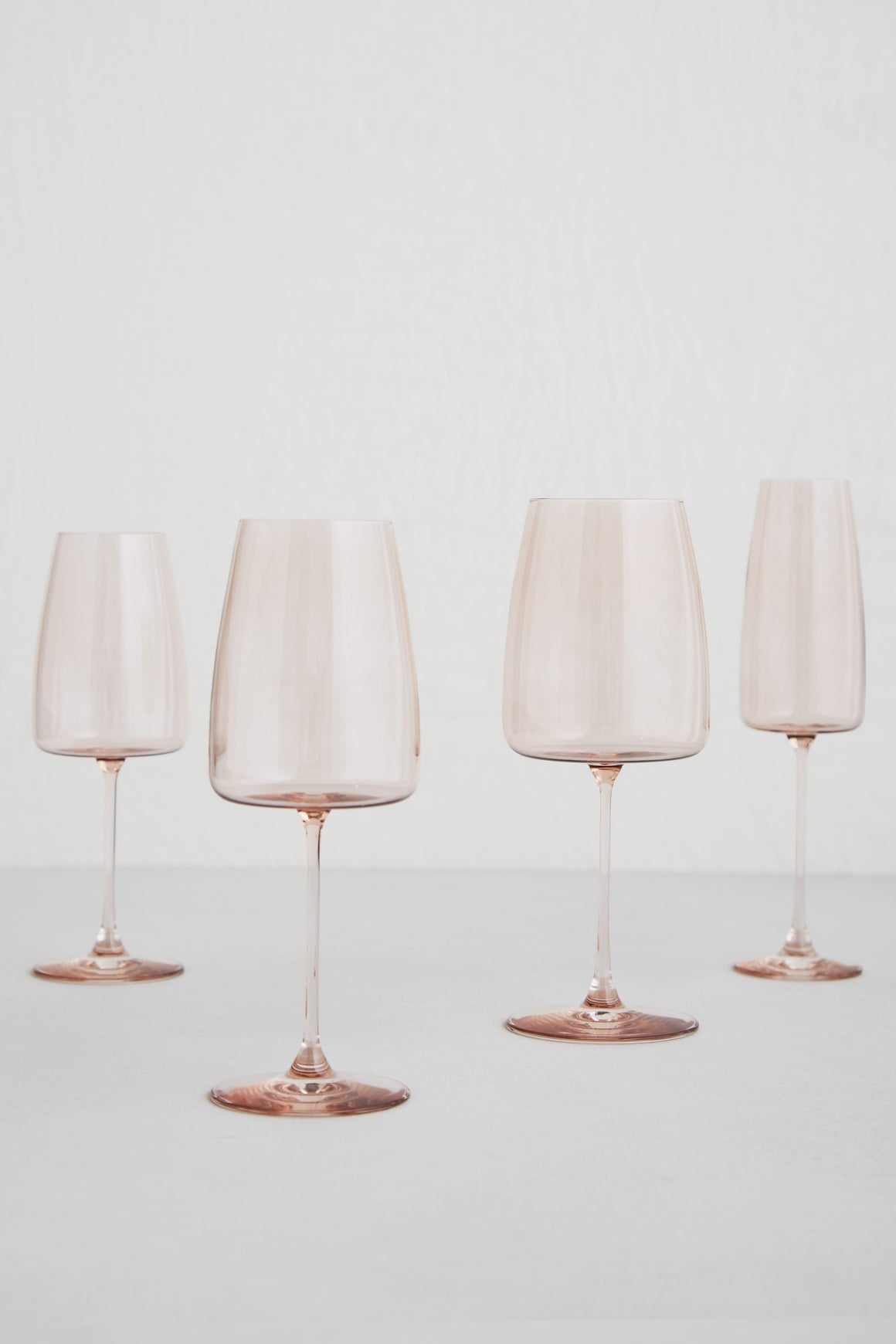 Modern Rose Glassware for Events in Los Angeles, CA