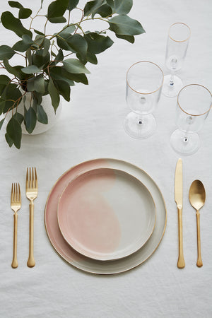 Watercolor Plates, Blush