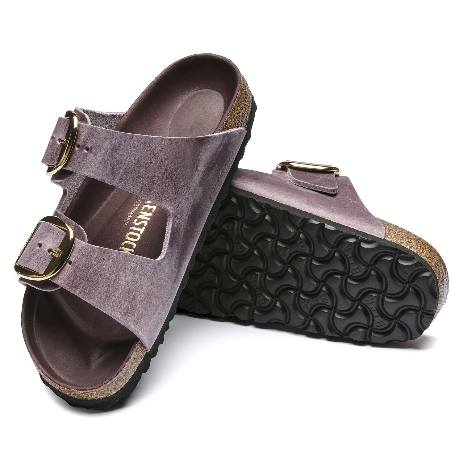 Arizona Big Buckle Lavender Blush Oiled Leather Narrow - Milu James St