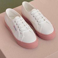 2750 Cotu Classic in White Dusty Rose, Sneakers, Superga, Milu James St
