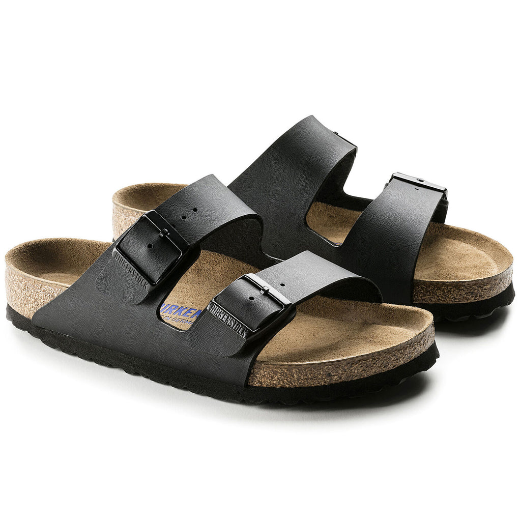 Arizona Black birko Soft Foot Bed, Sandals, Birkenstock, Milu James St