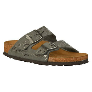 Arizona Injected rivets gunmetal, womens sandals, Birkenstock, Milu James St