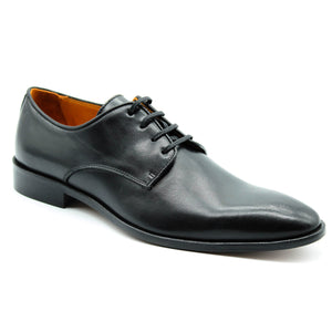 Men's Italian Black Leather Lace-Up, Dress & Lace-Ups, Milu Boutique, Milu James St