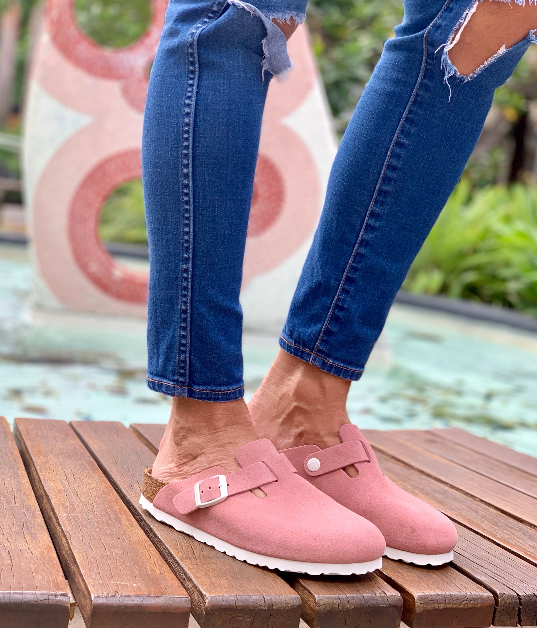 Boston Suede Leather in Rose (Soft-Footbed) - Milu James St