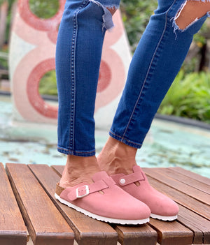 Boston Suede Leather in Rose (Soft-Footbed)
