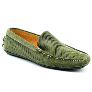 801 Mens Italian loafer Suede Khaki, Loafers, Milu Boutique, Milu James St