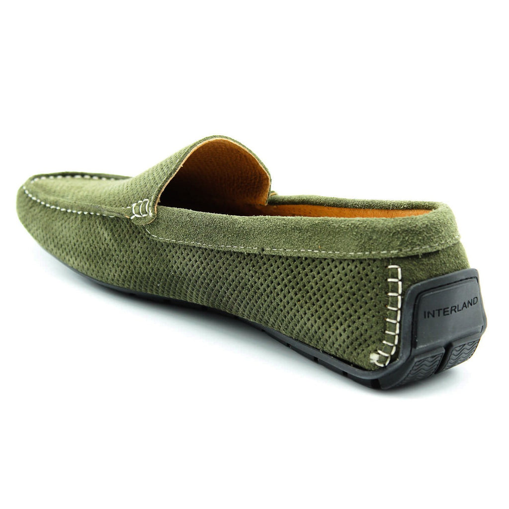 Men's Italian Khaki Suede Leather Slip-on Loafer, Loafers, Milu Boutique, Milu James St