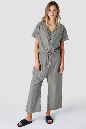 Rosalina melange stripe pantsuit, Womenswear, Kings Of Indigo, Milu James St