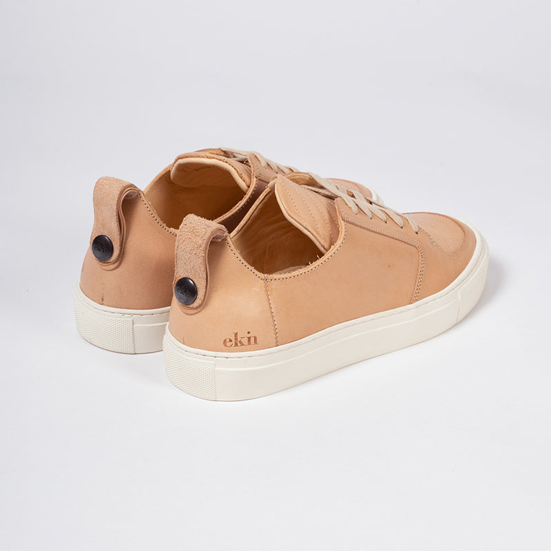 Argan Low Natural tan Leather, Sneakers, Ekn, Milu James St