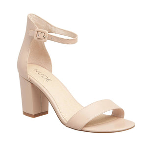 Silence Leather Heel in Nude, Heels, Nude, Milu James St
