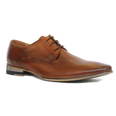 Plant Lace-Up Dress Shoe in Tan Leather, Dress & Lace-Ups, One 4 The Road, Milu James St
