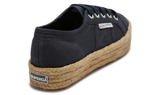 2730 Rope Espadrille Cotropew in Navy, Espadrille, Superga, Milu James St