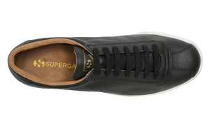 2843 Club S Black-White Mens Leather Trainer, Mens Trainers, Superga, Milu James St
