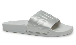 Superga 1908 Satin Pool Slide in Light Grey, Slides & Slip-Ons, Superga, Milu James St