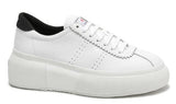 2822 Club 5 White- Black Leather Bubble sole