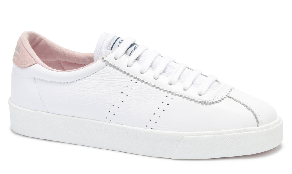 2843 Club S Leather white-pink, Womens Trainers, Superga, Milu James St