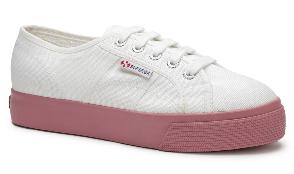 2730 Cotu Canvas in White Dusty Rose, Sneakers, Superga, Milu James St