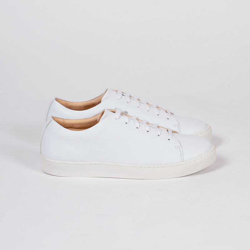 Oak in White Leather, Sneakers, Ekn, Milu James St