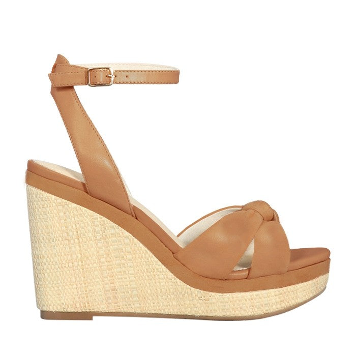 Nude Antolina in Tan Leather, Heels, Nude, Milu James St
