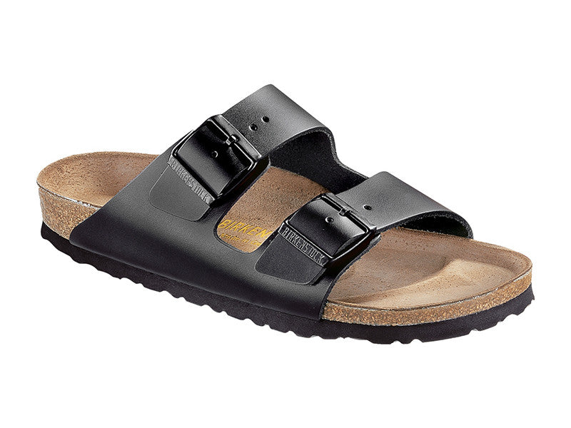 Arizona Smooth Leather in Black (Classic Footbed), Unisex Sandals, Birkenstock, Milu James St