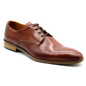 Men's Italian Cognac Leather Lace-Up Shoe, Dress & Lace-Ups, Milu Boutique, Milu James St