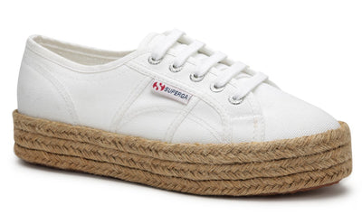 2730 Rope Espadrille Cotropew in White, Womens Sneakers, Superga, Milu James St