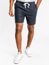 Noosa Linen Draw-short in Navy or Washed Olive