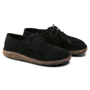 Gary Suede Leather Lace up in Black, Sneakers, Birkenstock, Milu James St