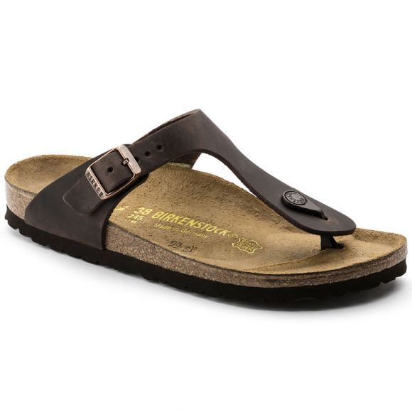 Gizeh Natural Oiled Leather in Habana (Classic Footbed), Unisex Sandals, Birkenstock, Milu James St