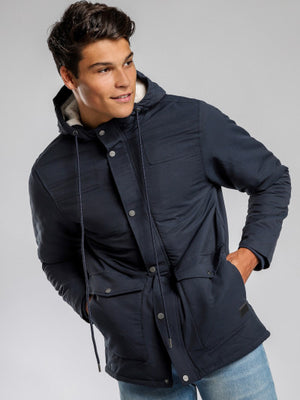 Cain parker jacket in navy blue, Menswear, ARTICLE NO .1, Milu James St
