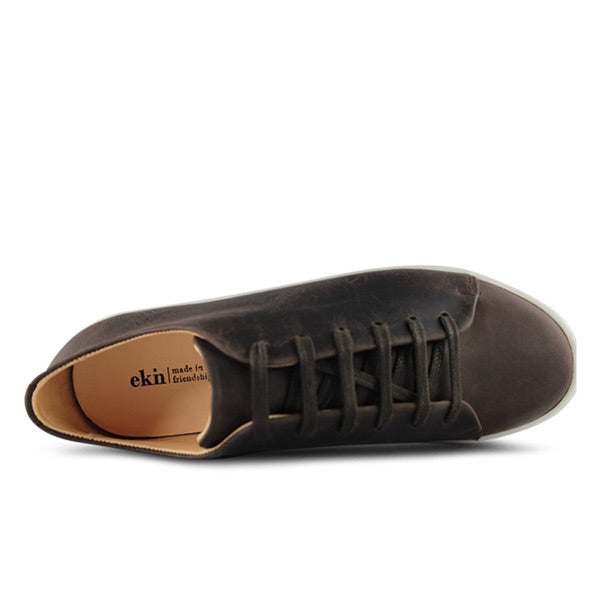 Oak in Brown Leather, Sneakers, Ekn, Milu James St
