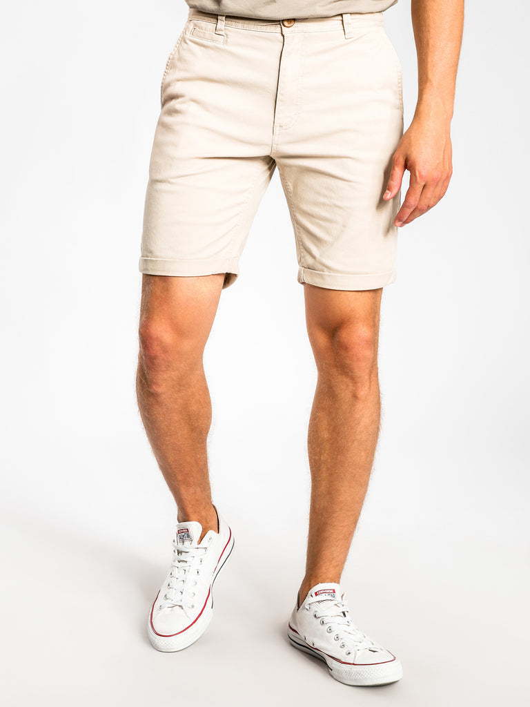 Malabar Chino Short in Navy or Stone or Army