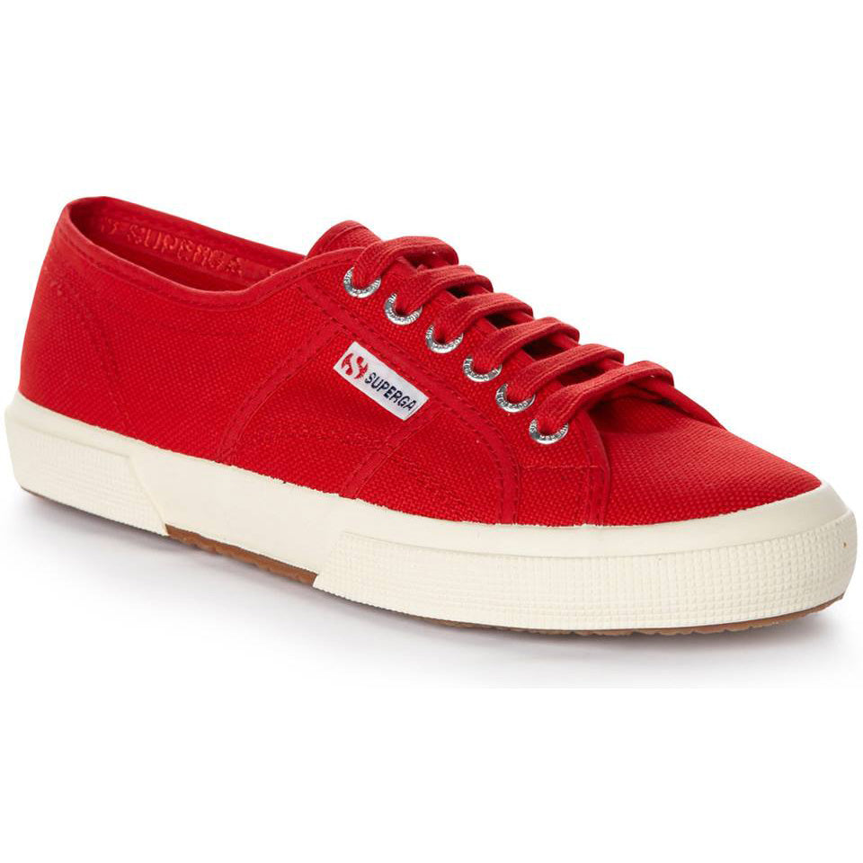 2750 Cotu Classic Canvas in Red-White, Sneakers, Superga, Milu James St