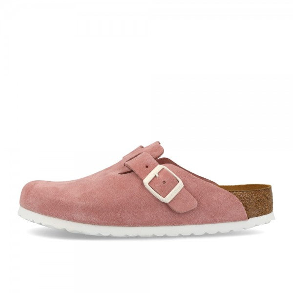Boston Suede Leather in Rose (Soft-Footbed), Sandals, Birkenstock, Milu James St