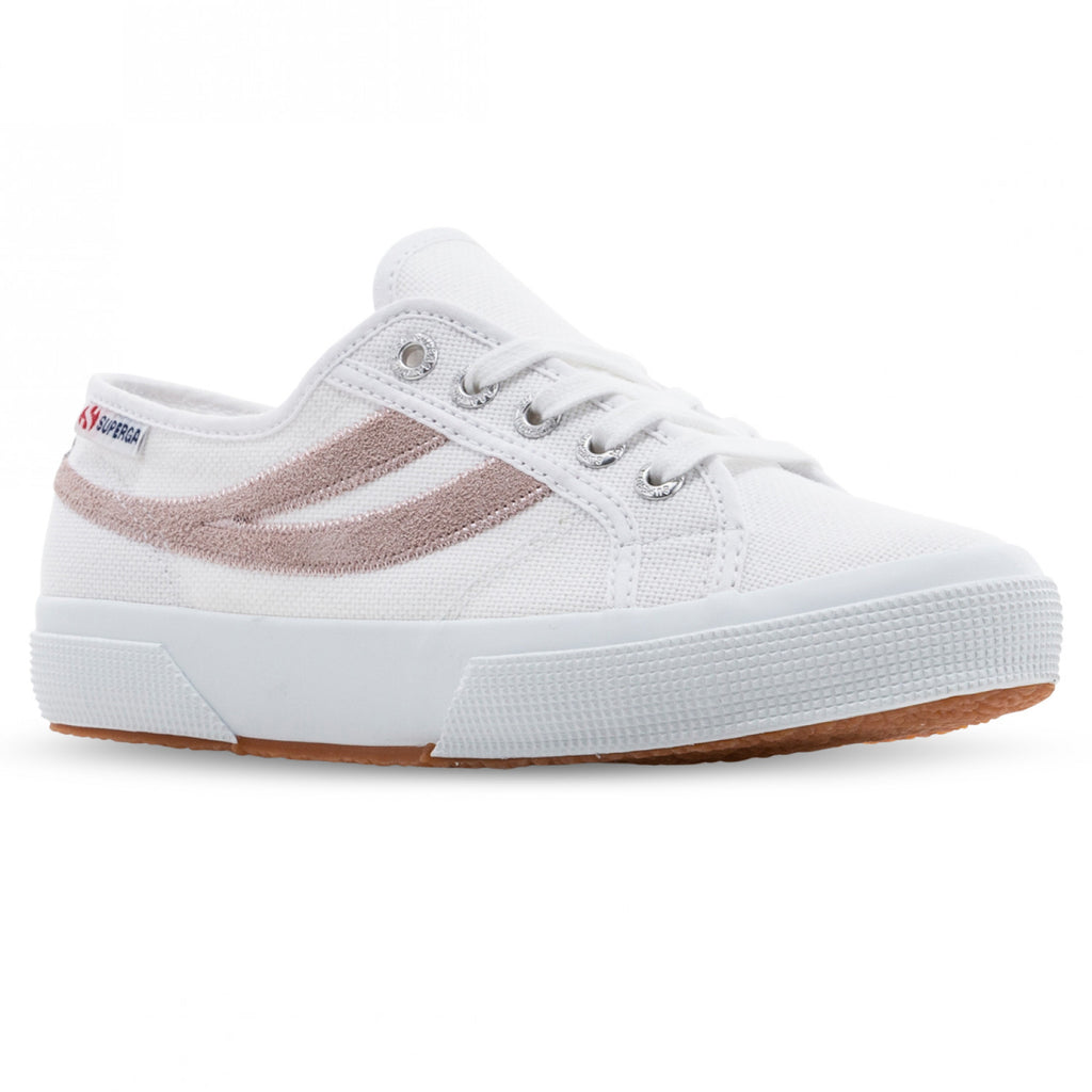 2953 Cotu Suede White Pink, women sneaker, Superga, Milu James St